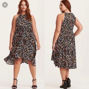 NWT! TORRID Floral Hi-Lo High Neck Summer Dress 00